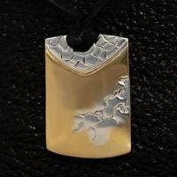 Серебряный кулон Liquid gold