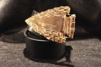Ремень из кожи авторский Золотое Копье