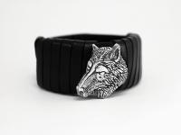 Браслет из кожи авторский Волк