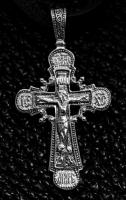 Крест серебряный нательный №4