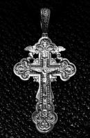 Крест серебряный нательный №6