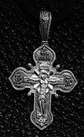 Крест серебряный нательный №8