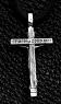 Крест серебряный нательный №2 фото 1
