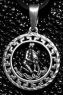 Кулон из серебра авторский зодиак Водолей фото 1