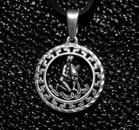 Кулон из серебра авторский зодиак Водолей