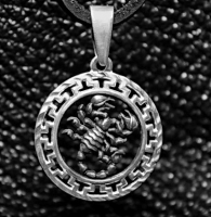 Кулон из серебра авторский Скорпион