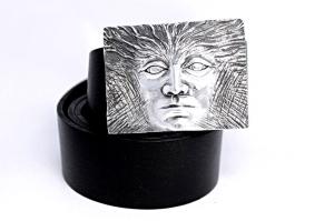 Ремень с пряжкой из серебра Эгос