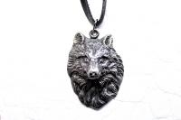 Серебряный кулон Северный Волк