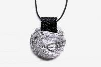 Кулон из серебра с кожей ската Одаренность