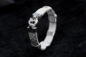 Браслет из кожи питона с серебром белая Вуаль  фото 3