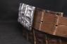 Ремень с серебряной пряжкой и кожей крокодила Риччи люкс фото 1