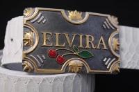 Пряжка из серебра с эмалью на заказ Эльвира